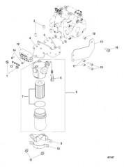 Схема Гидравлический фильтр в сборе Высокое давление