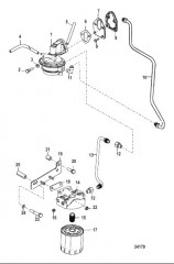 Схема Топливный фильтр и топливный насос 357 Alpha/Bravo