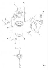 Схема Топливный фильтр и кронштейн