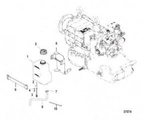 Схема Выхлопная труба QSC, конструкция II, левый и правый борт, 6