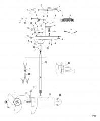 Двигатель для тралового лова в сборе (Модель TT5000) (24 В)