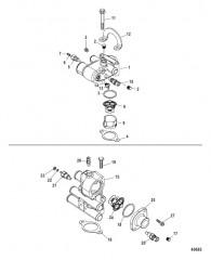 Схема Компоненты набора прокладок (27- 75611A03) Головка цилиндра