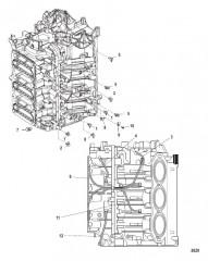 Схема Центральная главная система смазки с левого борта