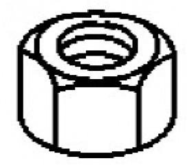 ГАЙКА (0.375-24), нержавеющая сталь 826709113