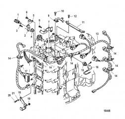 Схема Датчики и жгут проводов