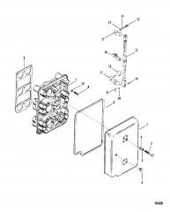 Схема Пластина обогатителя и рычаги газа