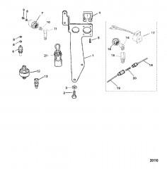 Датчики и кронштейн для жгута проводов