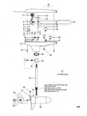 Двигатель для тралового лова в сборе (Модель GWB35V / GWT35V) (12 В)