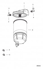 Комплект водоотделительного топливного фильтра Без датчика WIF – SeaPro