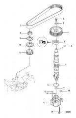 Схема Распределительный вал и Масляной насос