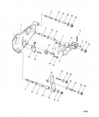 Схема Кронштейн переключения передач (СТАРАЯ КОНСТРУКЦИЯ)