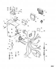 Схема Электрические компоненты (Сер. номера от 0K000012 до 0L415623)
