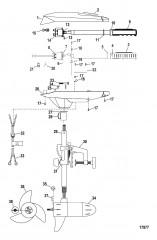 Двигатель для тралового лова в сборе (Модель FW36HT) (12 В)
