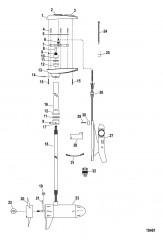 Двигатель для тралового лова в сборе (Модель MP6700) (24 В)