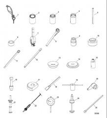Схема Список инструментов (Сухой поддон) Six/NXT6 SSM – Нижний