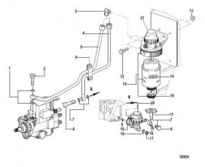 Схема Топливный насос и фильтр (Все электрические двигатели)