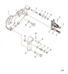 Схема Кронштейн переключения передач