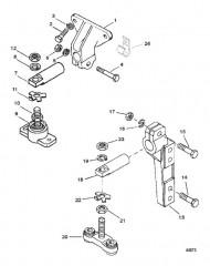 Схема TRANSMISSION AND ENGINE MOUNTING (BORG WARNER 5000)