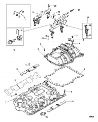 Впускной коллектор и топливная направляющая