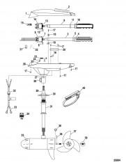 Двигатель для тралового лова в сборе (Модель FW71HB) (24 В)