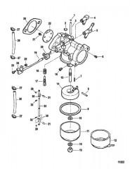 Схема Карбюратор (Сер. номера от 0E141089 до 0E202999)