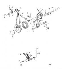 Схема Рычаг газа и тяга