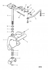 SWIVEL BRACKET (LONG SHAFT)(0C159200 AND UP)