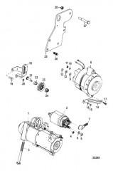 Схема Стартер и генератор 357 Alpha/Bravo