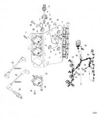Схема Электрические компоненты (Пластина катушки в сборе)