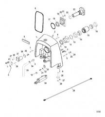 Схема Корпус кардана в сборе Карданная передача, (мокрый и сухой поддон)