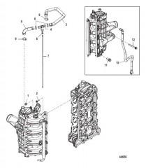 Прокладка шлангов охладителя нагнетаемого воздуха/впускного коллектора