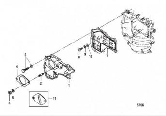 Схема Коллектор/пластинчатый клапан