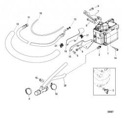 Схема Топливный насос и топливный охладитель
