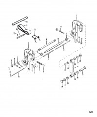 Схема Кронштейн фиксатора в сборе (Без усилителя дифферента)