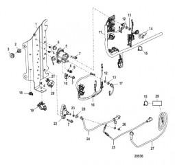 Схема Компонент электрической панели Серийный номер 1B723942 и ниже