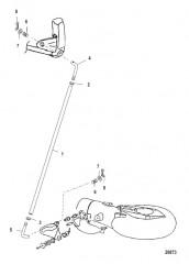Схема Тяга механизма переключения передач (водометн.)