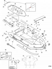 Модели Mercury Air Deck Белый (2011 и новее)