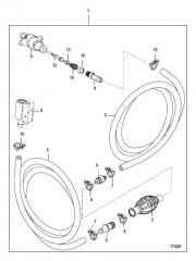Схема Топливопровод в сборе (Зажим на разъемном соединении – конструкция I)