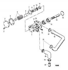 Схема Насос для забортной воды (4.2L)