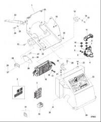 Схема ELECTRICAL BOX AND COMPONENTS (S/N 0K040001 THRU 0K999999)