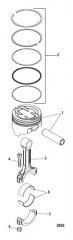 Схема Поршни и соединительные стержни 383 Mag Bravo 4V