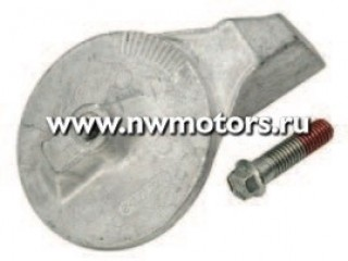 Алюминиевый aнод на транцевой плите для двигателей Mercury 35 л.с. И выше, Force 90/120 л.с. И двигателей Mercury mercruiser