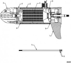 Lower Unit Assembly (FW55 - Variable Sonar)(8M0096747)