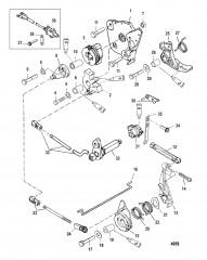 Тяга газа/тяга управления переключением передач