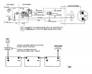 Схема электрических подключений (Модель 6107V) (36 В)