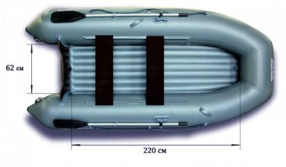 Моторная надувная лодка «ФЛАГМАН - 320L»