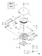 Схема Карбюратор и тяга газа (205)