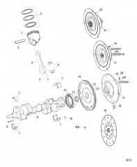 Схема Компоненты коленчатого вала / поршня и соединительной муфты