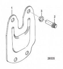 Схема Блокирующая пластина для выхлопного патрубка