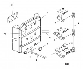 Схема Пластина аттенюатора и рычаги газа